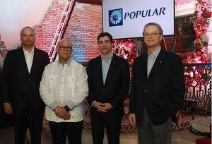 De izquierda a derecha, los señores Luis E. Espínola, Eduardo Grullón, Christopher Paniagua y Manuel A. Grullón.