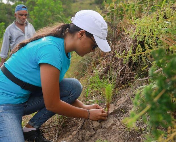 Esta jornada de reforestación contribuye a la regeneración boscosa de la cuenca alta del Ozama.
