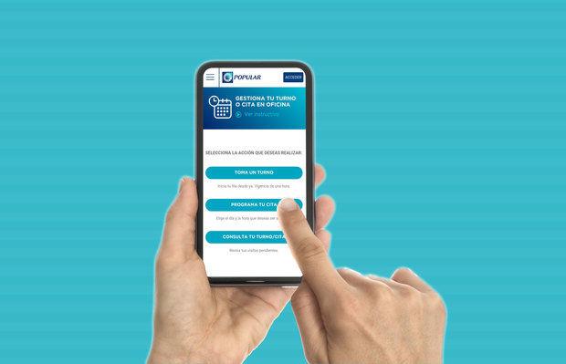 Banco Popular registra más de 273 mil usos de turnos y citas digitales