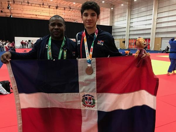 El entrenador Juan Carlos Jacinto y el judoca Antonio Tornal