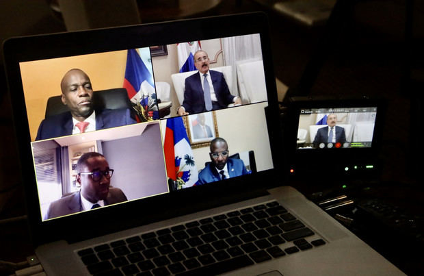 Presidentes, Danilo Medina, y de Haití, Jovenel Moise, mantuvieron este martes una videoconferencia para tomar medidas de la pandemia.