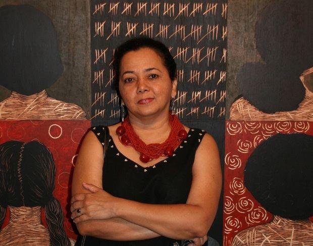 La artista dominicana Belkis Ramírez