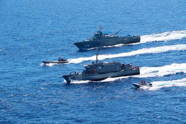 Buques de R.Dominicana y EE.UU. realizaron ejercicios en el mar Caribe