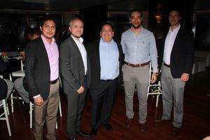 Alfredo Torres. Joerg Aldinger, Ivo Brenes,  Rafael Taveras, José Luis Lama.