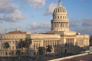 El capitolio de La Habana, Cuba.