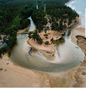 Desembocadura del río Arroyo Salado en la Playa La Boca0