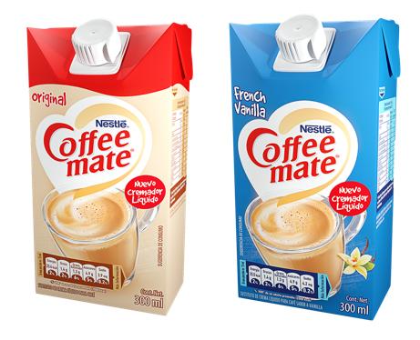 Coffee Mate Original y Coffee Mate Vanilla.