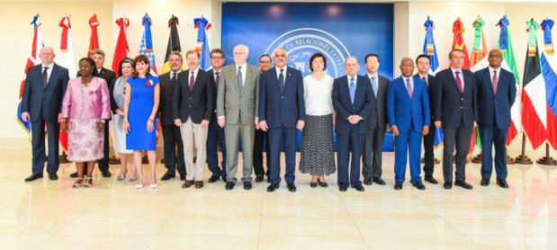 El ministro de Relaciones Exteriores recibió hoy al pleno del Consejo de Seguridad de la Organización de las Naciones Unidas (ONU).