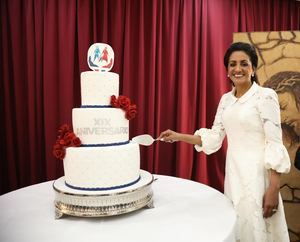 Cándida Montilla en el 19 aniversario del Despacho de la Primera Dama.