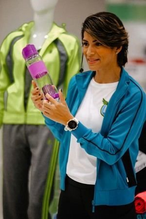 Training coach Carolina Leiva.