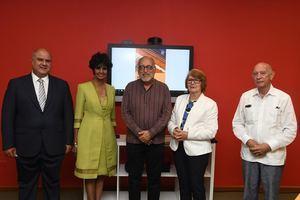 Jorge Haché, Elsa Núñez, Luis Felipe Rodríguez, Marianne de Tolentino y John Haché.