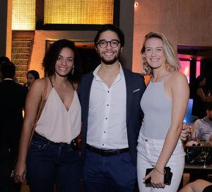 Charyl Adams, Plinio Melo y Carla Ortega.
