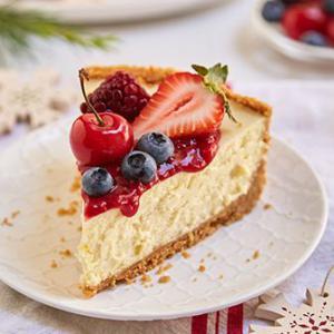 Cheesecake con tope de frutas