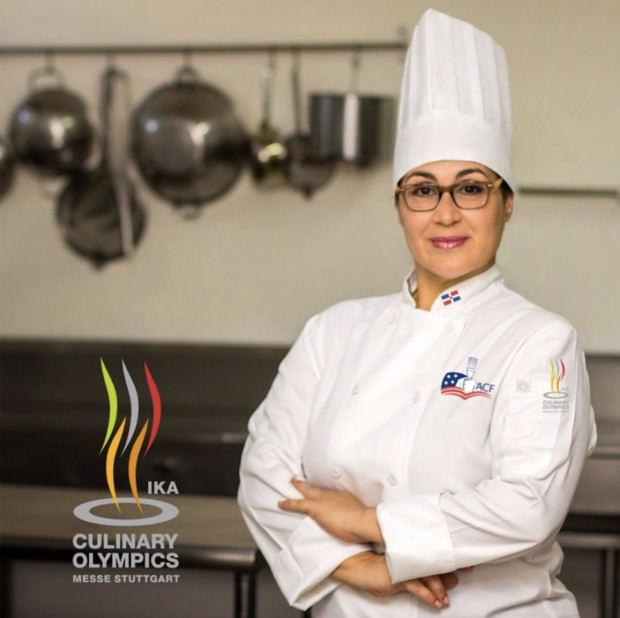 Ana Lebrón, primera chef dominicana que participa en IKA 2020, una olimpíada culinaria internacional
