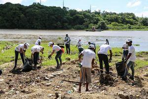 Programa Riviera Verde en saneamiento ambiental en los lugares más vulnerables de la ciudad.