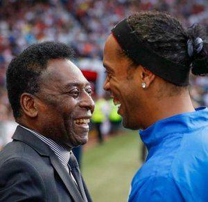 Pelé y Ronaldinho