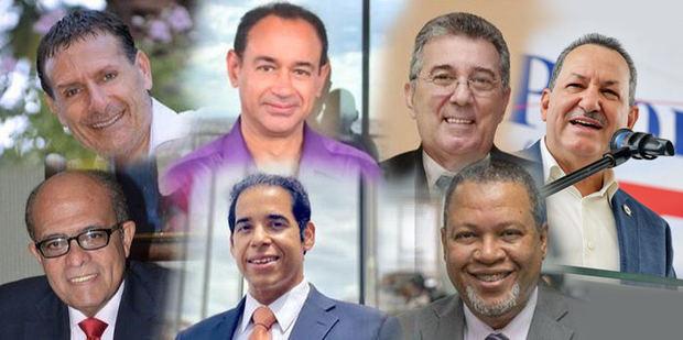 Donatto Manniello, Enriquillo Amiama, Ramón Saba, Porfirio Peralta, Dr. José Silié Ruiz, Nelson A. Bello Martínez y Juan Febles.