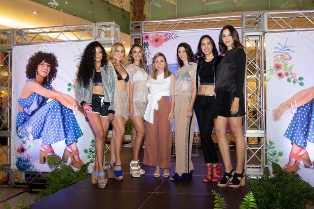 Modelos de la Colección de  Verano 2019 junto a Marcela Costa, gerente de mercadeo de Bakers Dominicana.