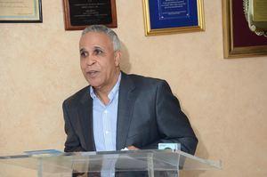 El gerente general de la Cooperativa Empresarial, José Joaquín Suriel, con las palabras centrales del acto.