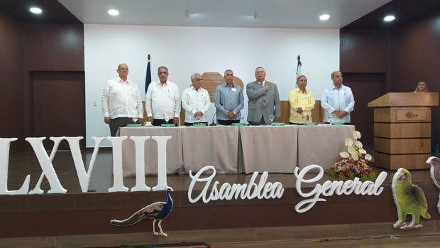 Mesa principal de la 68 Asamblea General Ordinaria de la Cooperativa San José.