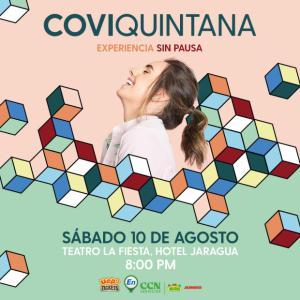 """Covi Quintana en su concierto """"Experiencia sin pausa"""""""