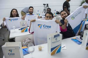 Los emprendedores que participan en el cuarto programa de pre-aceleración CREE Banreservas con ideas de negocios viables.