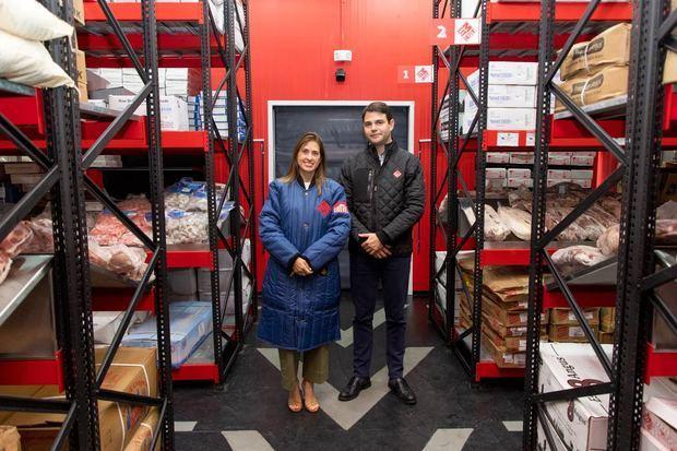 Julia Pasteriza y Victor Martínez en las instalaciones de Meat Depot.