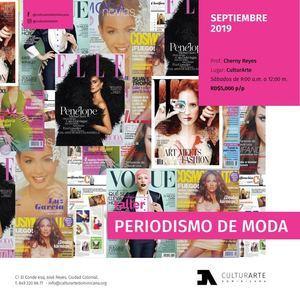 Taller Periodismo de moda CulturArTe 2019.