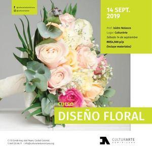 Taller Diseño Floral CulturArTe 2019.