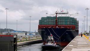 Canal de Panamá, importante medio para exportaciones latinoamericanas.