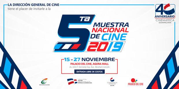 """Invitación de la """"5ta Muestra Nacional de Cine""""."""