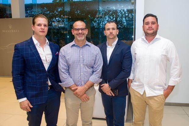 Diego Hurtado, Alvin Ortega, Sergio Alba y Rivier Duran.