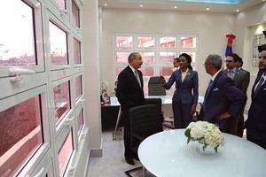 El presidente de la República, Danilo Medina, junto a la primera dama, Cándida Montilla.