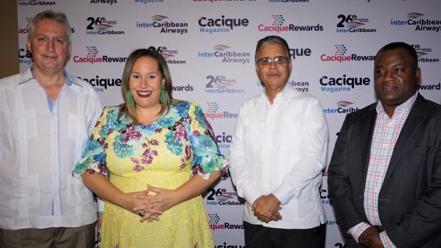 Trevor Sandler, Cynthia Polanco de Garrido, Luis José Chávez y Lyndon R. Gardiner.