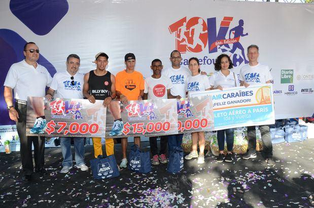 Santana y Rodríguez conquistan el maratón Carrefour 10K