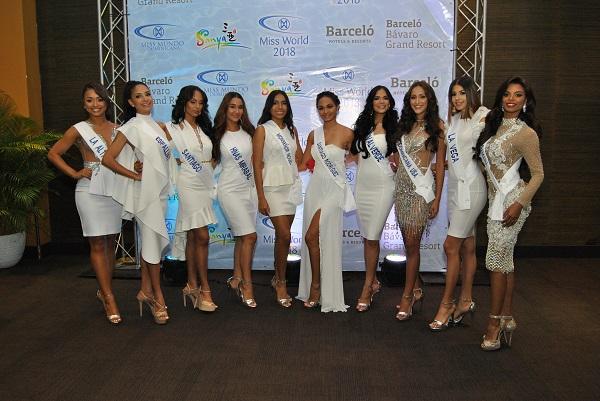 "Presentan candidatas a la corona del ""Miss Mundo Dominicana 2018"""