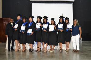 Parte de los graduandos