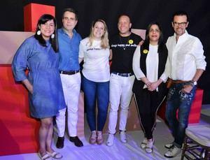 Cony Taveras, Alejandro González Cuadra, Cristina Cuadra, José Jhan, Madelyn Martínez y Sócrates McKinney
