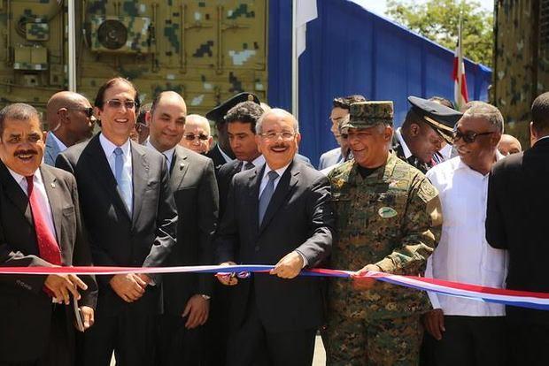 Danilo Medina entrega puesto interagencial de gestión coordinada de frontera en Elías Piña