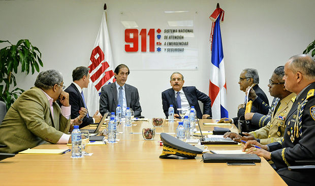 Danilo Medina conoce avances y desafíos Sistema Nacional de Atención a Emergencias y Seguridad 911