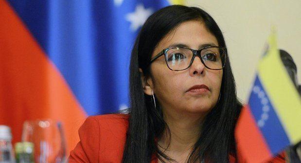 Vicepresidenta venezolana, Delcy Rodríguez.