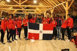 Combinado de Balonmano femenino regresando de su participación en los Juegos Panamericanos de Lima.