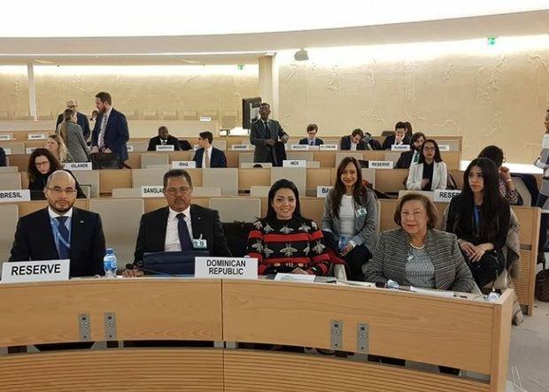 Delegados de la Procuraduría General de la República, ante el Consejo de Derechos Humanos de las Naciones Unidas, celebrado en Ginebra, Suiza.