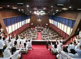Colapsa parte del techo del área de recepción de la Cámara de Diputados