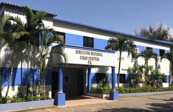 Edificio de la Policía Nacional de la región del Cibao Central.