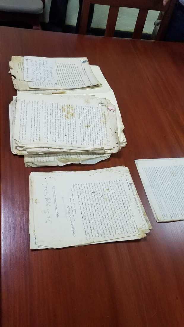 Documentos donados al AGN.