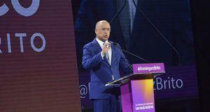 Francisco Domínguez Brito presentó su propuesta política de gobierno de cara a los comicios de 2020, que no pudo retransmitir por radio y televisión por prohibición de la Junta Central Electoral (JCE).