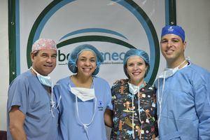 Dr.Miguel Angel Lopez, Dra. Ana Beato, Dra. Mara Teresa Salazar y Dr.Juan Batlle Logroño.