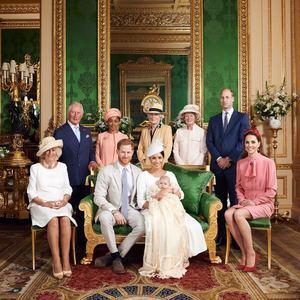 Duques de Sussex en el bautizo de su primer hijo, Archie Harrison Mountbatten-Windsor.