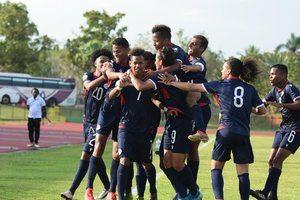 triunfo de República Dominicana 2 - 0 sobre Dominica.
